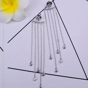 Henri Bendel Sun Flower Tassel Silver Earrings